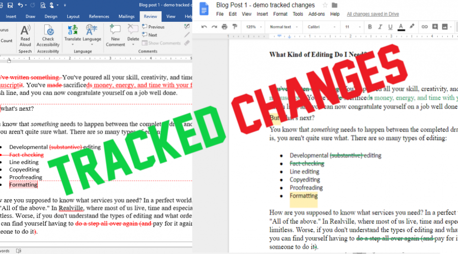 Tracked Changes: Resolving Edits in Google Docs